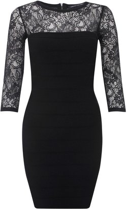 French Connection Dani Crepe Lace Dress