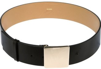 Jil Sander plaque buckle belt