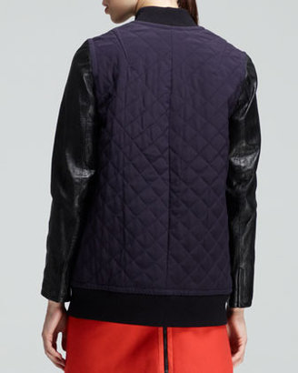 Rag and Bone Rag & Bone Pacific Quilted Coated-Sleeve Jacket