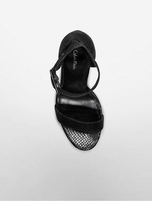 Calvin Klein Vivian Diamond Pattern Platform Sandal