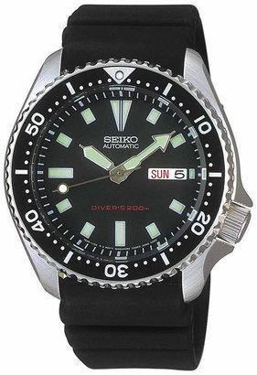 Seiko Men's Automatic Diver Black Polyurethane Strap Watch 40mm SKX173 $475 thestylecure.com