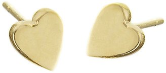 Jennifer Meyer Heart Stud Earrings - Yellow Gold