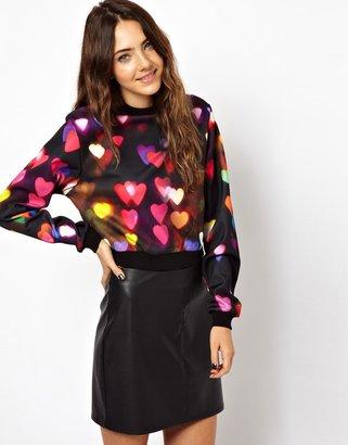 Asos Sweatshirt with Neon Heart Print
