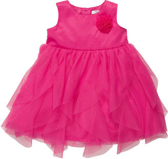 Carter's Baby Dress, Baby Girls Pink Ruffle Tulle with Rosette Dress