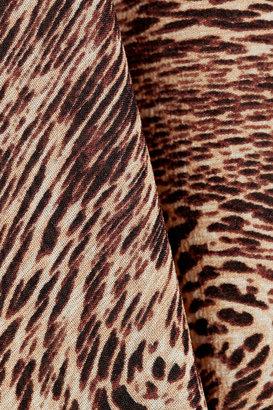 Alice + Olivia Selena printed stretch silk-blend top