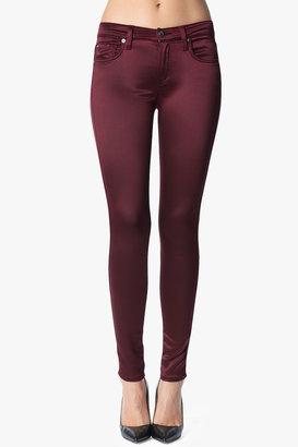 7 For All Mankind The Skinny In Berry Red Sateen
