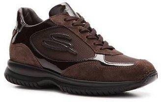 Santoni Patent Leather & Nylon Sneaker