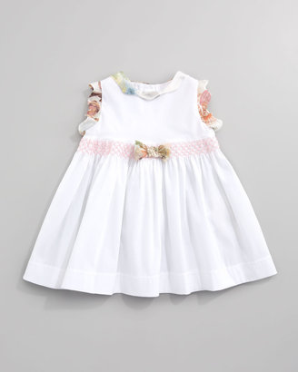 Roberto Cavalli Sleeveless Floral-Ruffle Dress, Sizes 12-24 Months