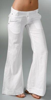 Yaya AFLALO George Super Flare Linen Pant
