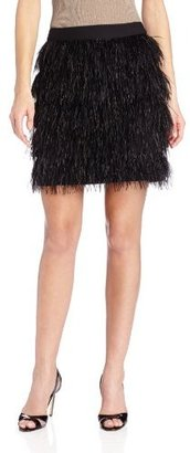 Vince Camuto Women's Feather Tiered Mini Skirt