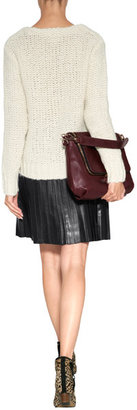 Anya Hindmarch Leather Maxi Zip Satchel in High Shine