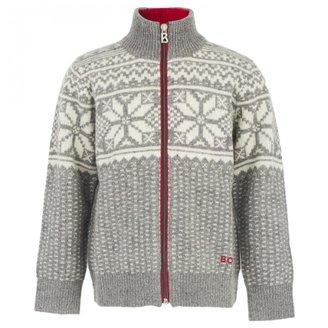 Bogner Gray Snowflake Zip Cardigan