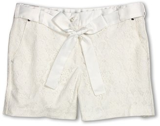 Biscotti Shorts with Lace Overlay (Big Kids) (Ivory) - Apparel