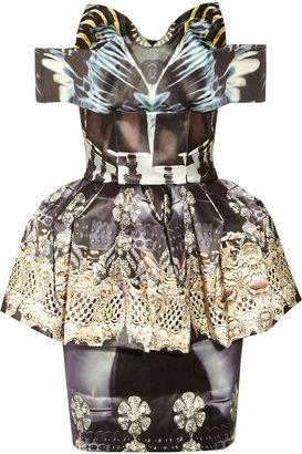 Mary Katrantzou Nebraska printed silk-blend satin dress