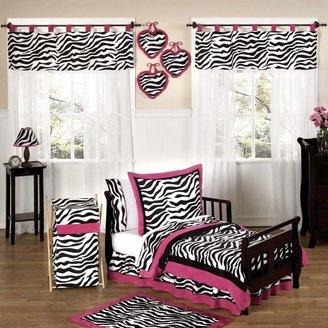 JoJo Designs Sweet Funky Zebra Toddler Bedding Collection in Pink