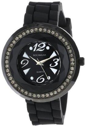 Rocawear Women's RL0125BK1-048 Stylish Bracelet Enamel Bezel Watch $58.66 thestylecure.com