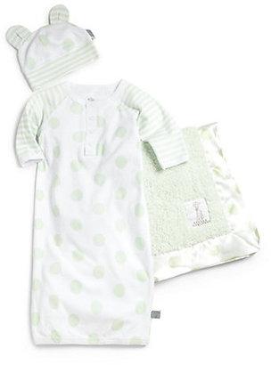 Little Giraffe Infant's Three-Piece Lollipop Gown, Cap & Blanket Set