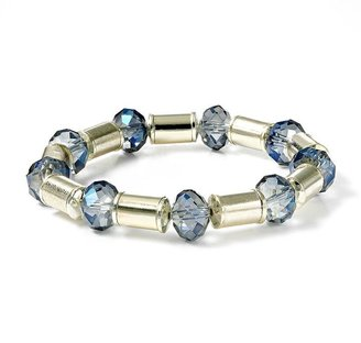 Vera Wang Simply vera gold tone bead stretch bracelet