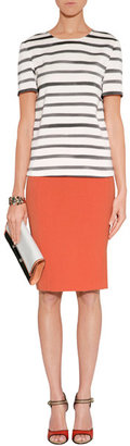 Just Cavalli Orange Pencil Skirt
