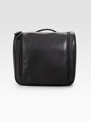 Saks Fifth Avenue Black Label Hanging Leather Travel Kit