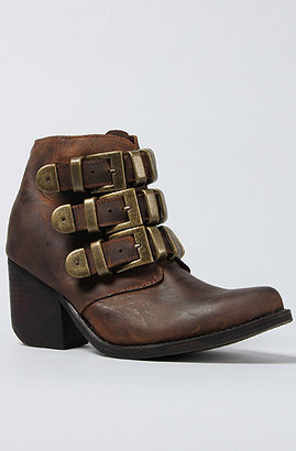 Jeffrey Campbell The Triplet Boot in Brown Distressed