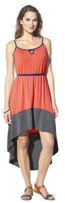 Merona Women's Knit Colorblock High Low Hem Dress - Assorted Colors