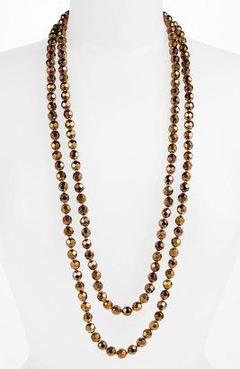 Nordstrom Metallic Bead Extra Long Necklace
