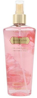 Victoria Secret Sheer Love White Cotton & Pink Lily Fragrance Mist $18 thestylecure.com