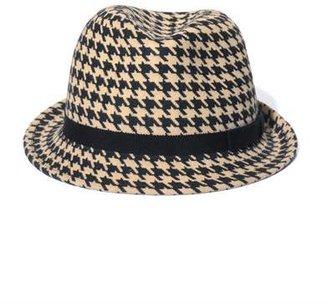 Anthony Peto Wilcox houdstooth felt hat