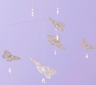 Pottery Barn Kids Glitter Butterfly Mobile