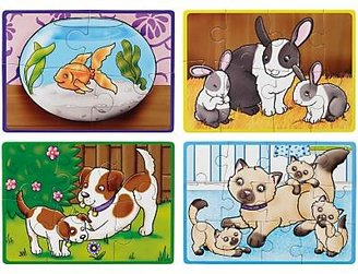 John Lewis & Partners My Pets 4-in-a-Box Jigsaw Puzzle, 30 Pieces
