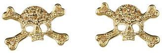 Vivienne Westwood Diamante Skull Stud Earring (Lt Colorado Topaz) - Jewelry