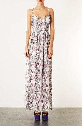 Topshop 'Marker Paisley' Print Maxi Dress