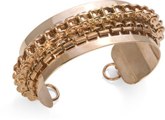 Fallon Social Security Bike Chain Cuff, Rose Gold
