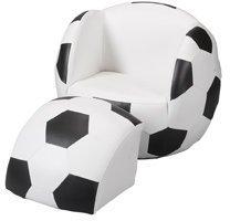 Gift Mark Child's Upholstered Soccer Chair &Ottoman