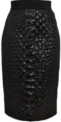 Giambattista Valli Crocodile Textured Lurex Skirt
