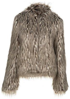 Topshop Fox Faux Fur Jacket