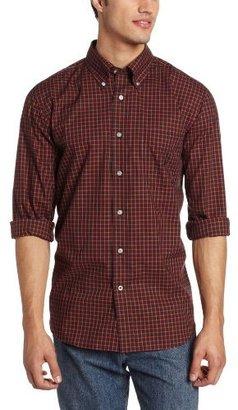 Nautica Men's Long Sleeve Red Tartan Shirt