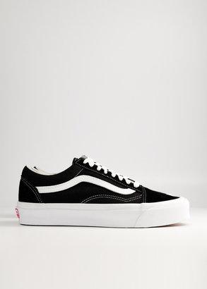 Vans Vault by Women's Old Skool LX Sneaker in Black/True White, Size 10 | Leather