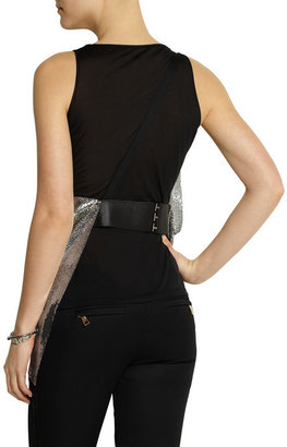 Versace Draped modal-blend and chainmail top