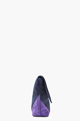 Marc by Marc Jacobs Purple Patchwork Suede Etta Clutch