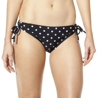 Mossimo Women's Mix and Match Polka Dot Keyhole Swim Bottom -Black
