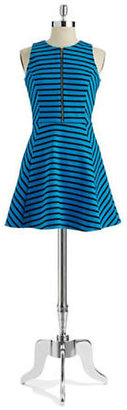 MICHAEL Michael Kors Striped Fit and Flare Dress
