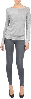 AG Jeans The Patchwork Pullover - Heather Grey