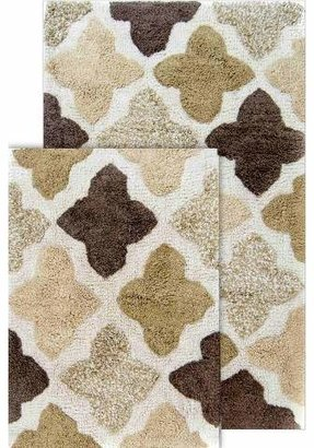 Chesapeake Merchandising Inc. Alloy Moroccan Tiles 2 Piece Bath Rug Set