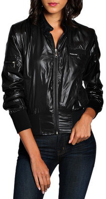 Members Only Cire Bomber Women's Black