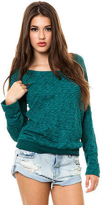 Volcom The Moclov Terry Crewneck in Emerald Green