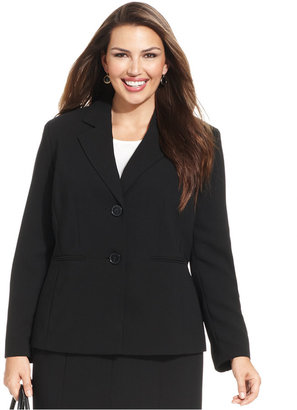 Kasper Plus Size Two-Button Jacket