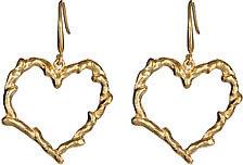 Blu Bijoux Gold Vine Heart Earrings