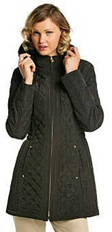 Laundry by Design Hooded Seaming Quilted Coat